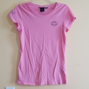 Womens, Size M, HARLEY DAVIDSON BREAST CANCER TEE